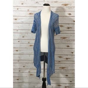 Free People Short Sleeve Open Front Cardigan - S